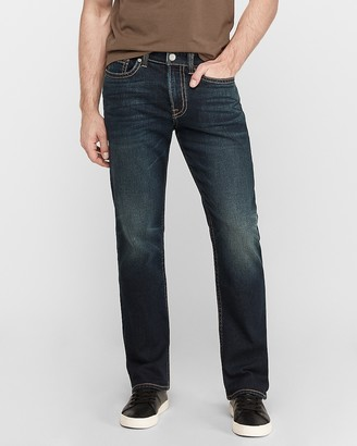 Express Classic Boot Dark Wash Stretch+ Thick Stitch Jeans