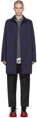 Lanvin Navy Gabardine Mackintosh Coat