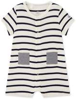 Petit Bateau Baby boy striped short coverall