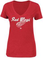 Majestic Women's Detroit Red Wings Match Penalty Glitter T-Shirt