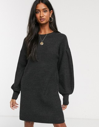 Micha Lounge mini jumper dress with balloon sleeves