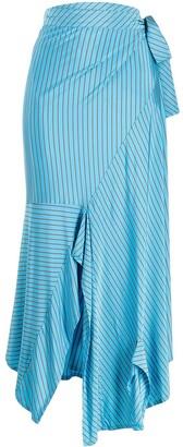MM6 MAISON MARGIELA Striped Mid-Length Skirt