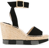 Paloma Barceló wedge sandals - women - Jute/Leather/Suede/rubber - 36