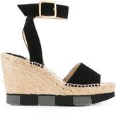 Paloma Barceló wedge sandals - women - Jute/Leather/Suede/rubber - 37