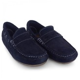 Mayoral Navy Suede Penny Loafers