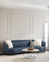"""Haute House Magnolia Tufted Leather Sofa 126"""""""