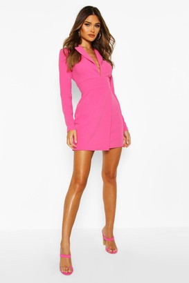 boohoo Scuba Crepe Blazer Dress