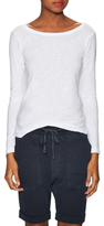 James Perse Cotton Scoopneck Tee