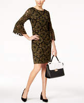 Alfani Crochet-Lace Bell-Sleeve Dress, Created for Macy's