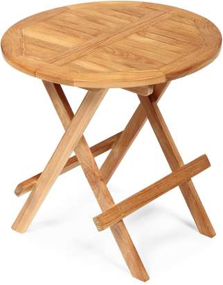 Arb Teak And Specialties Round Folding Side Table