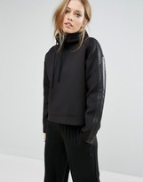 Polo Ralph Lauren Neoprene Sweat With Leather Details