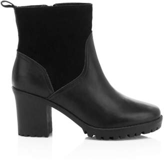 Soludos Dani Faux Shearling-Lined Leather & Suede Ankle Boots