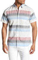 Public Opinion Short Sleeve Baja Stripe Regular Fit Shirt