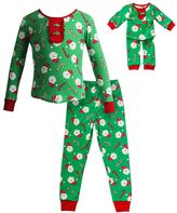 Dollie & Me Girls 4-14 Christmas Santa Pajama Set