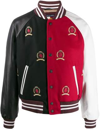 Tommy Hilfiger colour-blocked crest jacket
