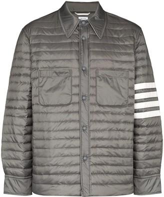 Thom Browne 4-Bar padded shirt jacket