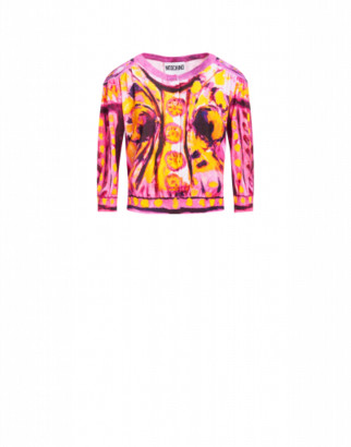 Moschino Cotton Cardigan Matador Woman Pink Size 40 It - (6 Us)