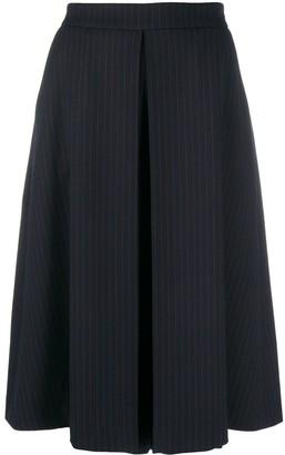 Piazza Sempione Pleated Pinstripe Skirt