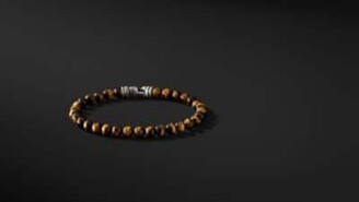 David Yurman Spiritual Beads Bracelet With Tiger's Eye, 6Mm