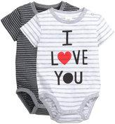 H&M 2-pack Short-sleeved Bodysuits - White/striped - Kids