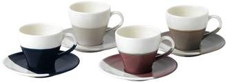 Royal Doulton Four-Piece Coffee Studio Espresso Cup Saucer Set