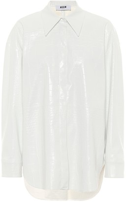 MSGM Faux patent leather shirt
