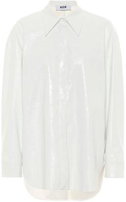 MSGM Faux patent leather shirt