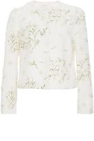 Giambattista Valli Daisy Embroidered Tweed Jacket