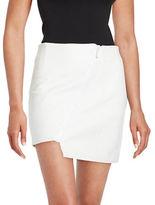 KENDALL + KYLIE Asymmetric-Zip Leather Mini Skirt