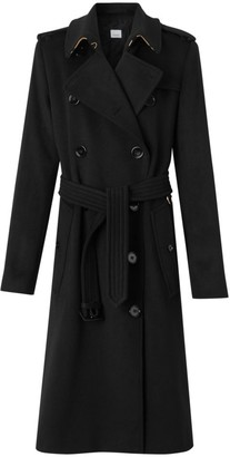 Burberry Kensington Cashmere Double-Breasted Coat