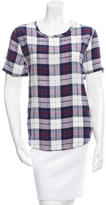 Equipment Silk Plaid Top