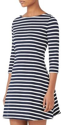 Striped Fit-&-Flare Dress