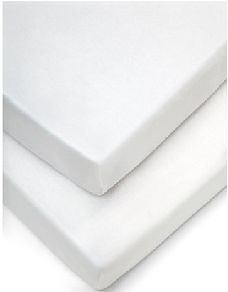 Mamas and Papas Pack of 2 100% Cotton Moses Fitted Sheets