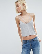Asos The Ultimate Crop Cami With Caging Detail