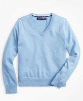 Brooks Brothers Boys Supima Cotton V-Neck Sweater