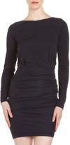 Yigal Azrouel Cut25 by Long-Sleeve Jersey Dress, Midnight