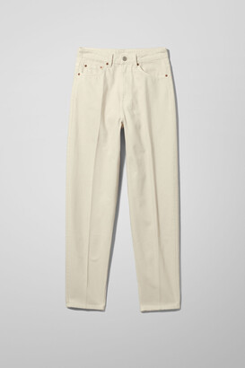Weekday Lash Extra High Mom Jeans - Beige