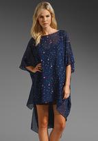 Mara Hoffman Silk Chiffon Poncho Dress
