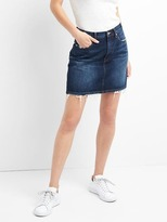 High rise denim mini skirt