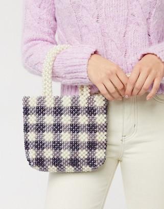 Skinnydip penelope tote bag in check