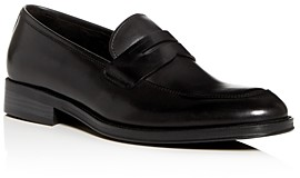 Kenneth Cole Men's Brock Leather Apron-Toe Penny Loafers