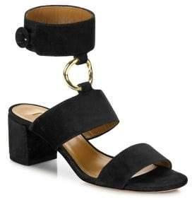 Aquazzura Safari Suede Block Heel Sandals