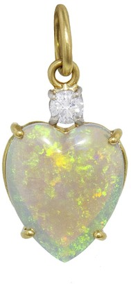 Irene Neuwirth One-Of-A-Kind 3.19 Carat Opal Heart and Diamond Charm
