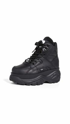 Buffalo London Womens Low-Top Sneakers Negro 5 UK