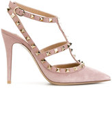 Valentino Garavani Valentino Rockstud ankle strap pumps - women - Calf Leather/Leather - 36