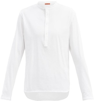 Barena Nalin Cotton Henley Shirt Top - White