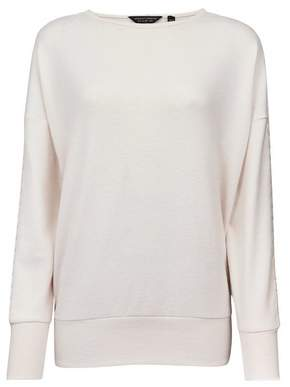 Dorothy Perkins Womens White Blush Brushed Lace Insert Sleeve Jumper