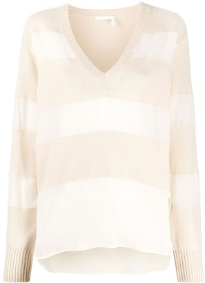 Chloé Silk Inserts Relaxed Jumper