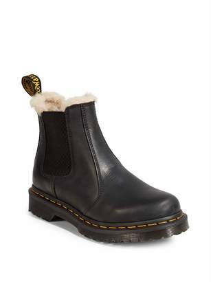Dr. Martens 2976 Lenore Faux Fur-Lined Leather Chelsea Boots
