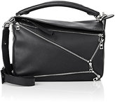 "Loewe Women's ""Puzzle"" Medium Shoulder Bag-BLACK"